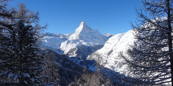 Even the Matterhorn wears a magnificent white mantle
