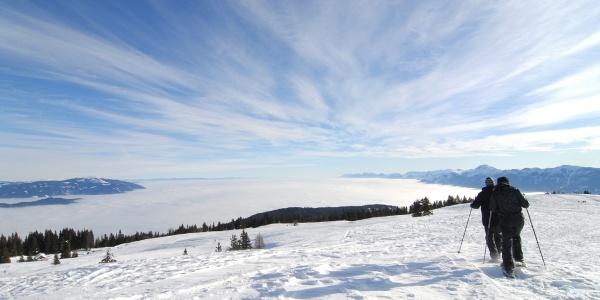 Winterwanderung im Naturpark Dobratsch