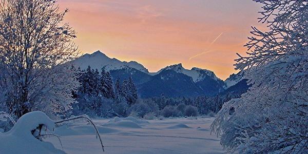 Winterwanderung Sonnenweg - Blick auf den Scheinberg