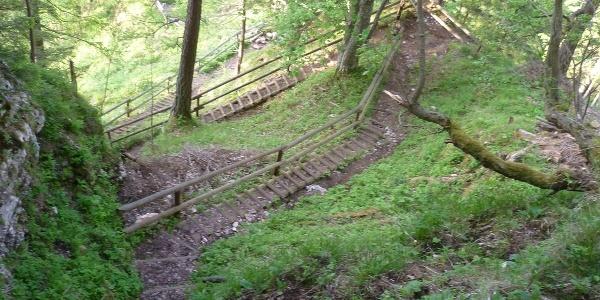 Weg hinunter nach Schüsserlbrunn