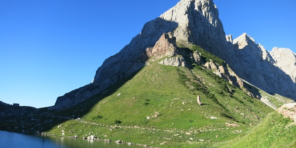 Rund um die Wolayerseehütte, Blick auf den Seekopf