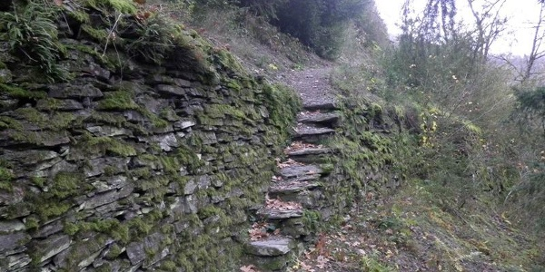 Old slate staircase