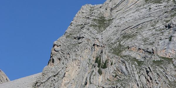 Der König von Fanes - ein Gesicht im Fels