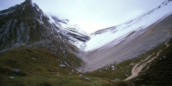 Das Antoniusjoch mit dem ersten Schnee