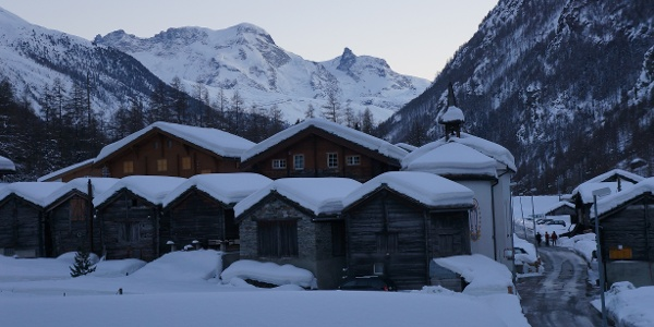 The village of Randa in winter