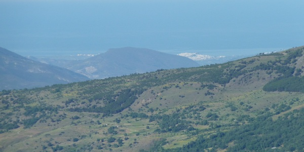 Blick von der Hütte nach Salobreña am Mittelmeer