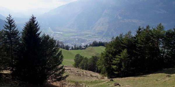 Blick auf den Mittenberg und die Stadt Chur