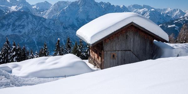 Blick von der Rottmannalm in die Lienzer Dolomiten