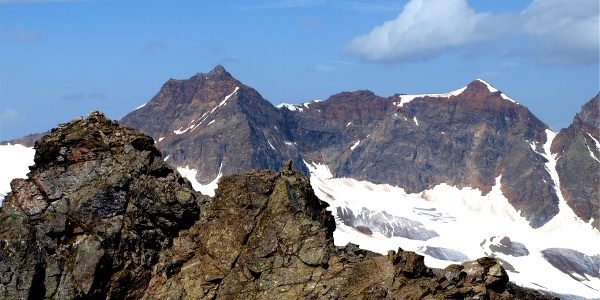 Ochsenkopf 3057 m mit Silvrettahorn