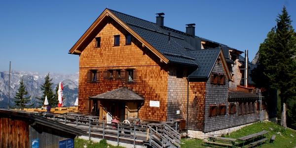 Die sehr schön gelegene Erfurter Hütte