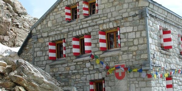 Angekommen bei der Rothornhütte SAC (3'198 m)