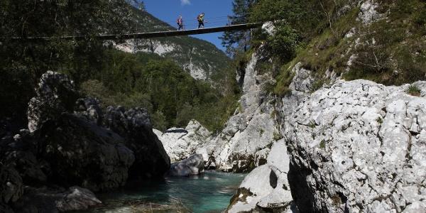 Hängebrücke über Soča